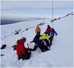 Winter mountaineering skills