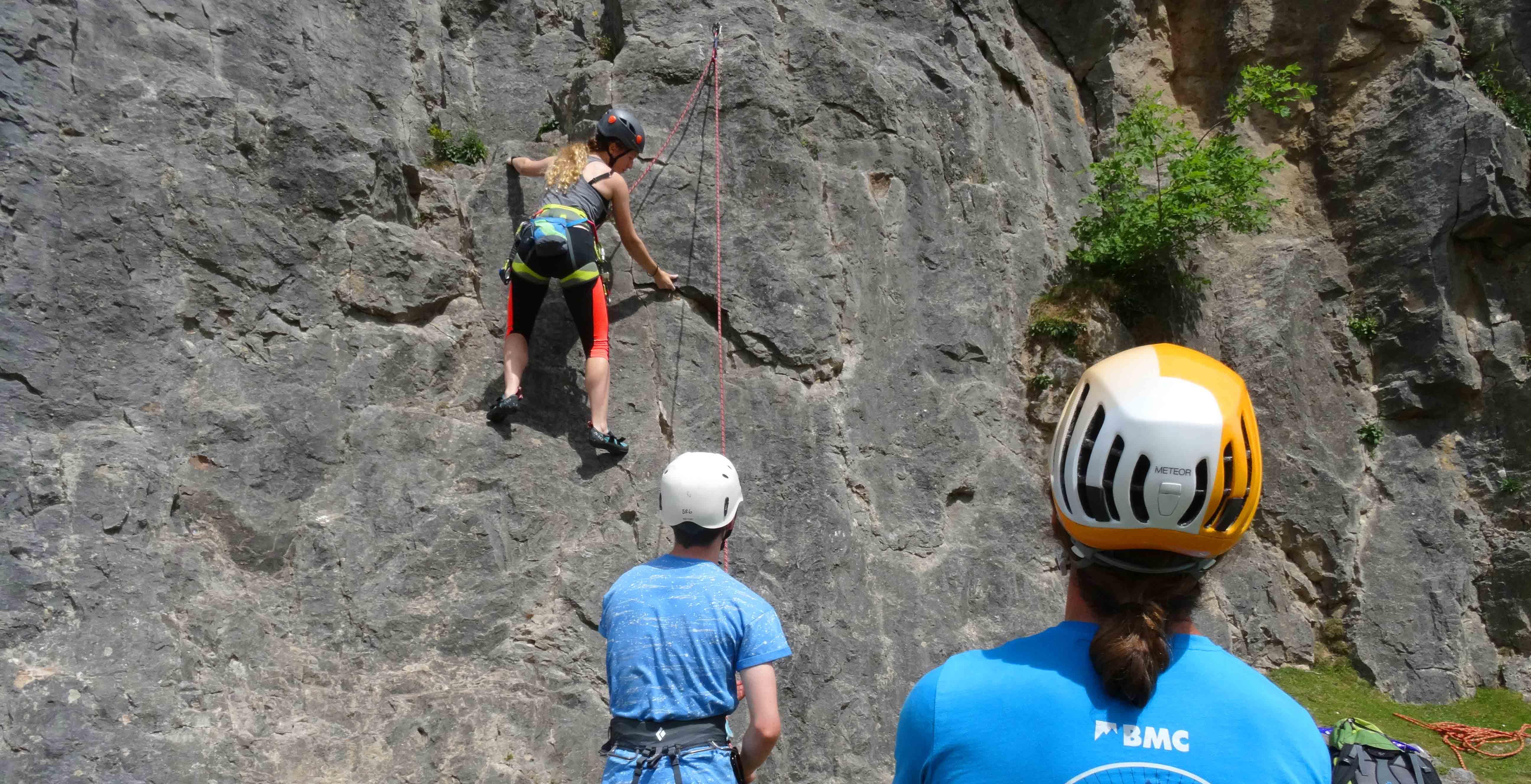 under 18 outdoor sport climbing