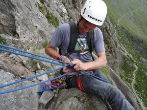 Trad multi pitch climbing