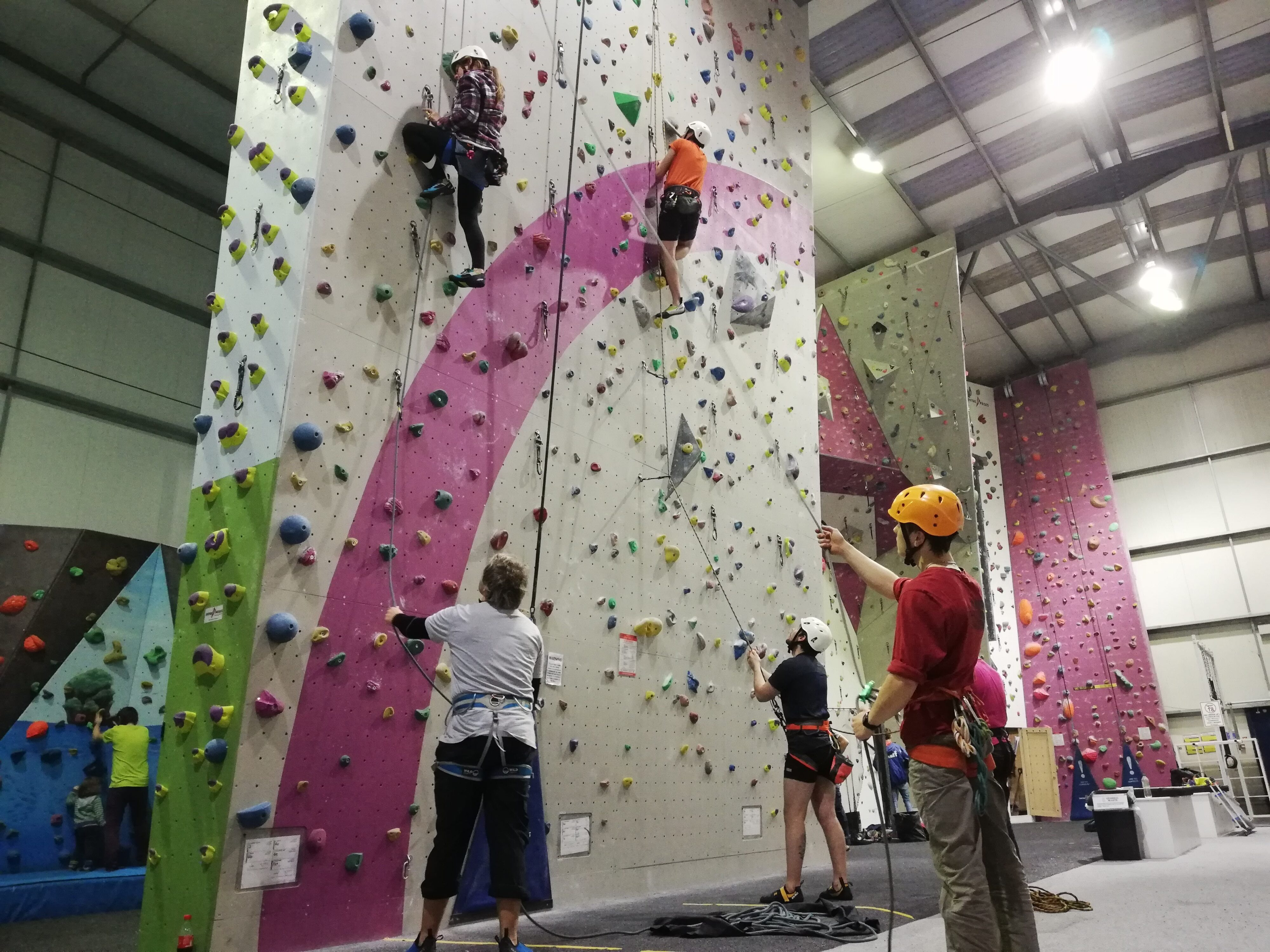 Teaching indoor lead climbing – Climbing Wall Development Instructor CWDI assessment